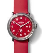 Shinola Detrola OU Sooners 43mm Silicone Watch