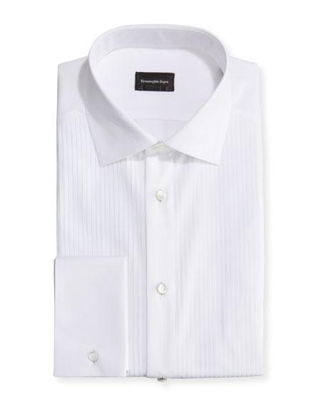 Ermenegildo Zegna Men's Pleated-Bib Dress Shirt