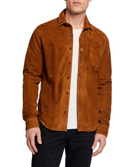 Vince Men's Goat Suede Shirt Jacket
