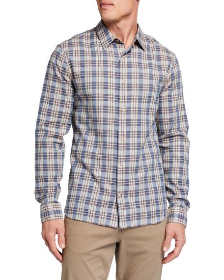 Vince Men's Tartan Plaid Sport Shirt