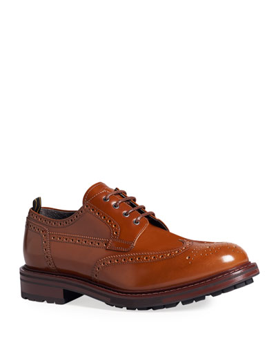 Men's Country Brogue Lug-Sole Derby Shoes