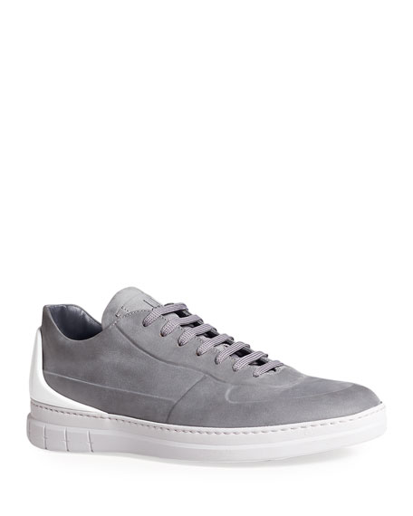 dunhill Men's Radial Spoiler Low-Top Leather Sneakers