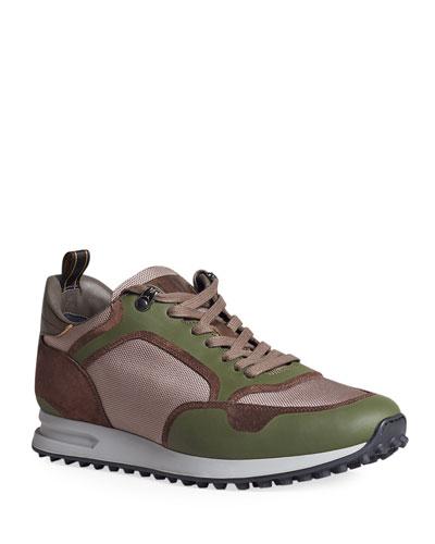 Men's Radial Runner Low-Top Leather Sneakers