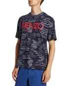 Kenzo Men's Mermaid Printed Logo T-Shirt
