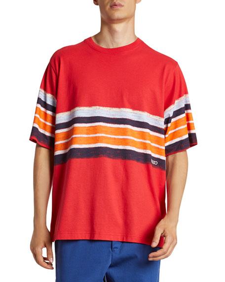Kenzo Men's Painted Stripes Crewneck Tee