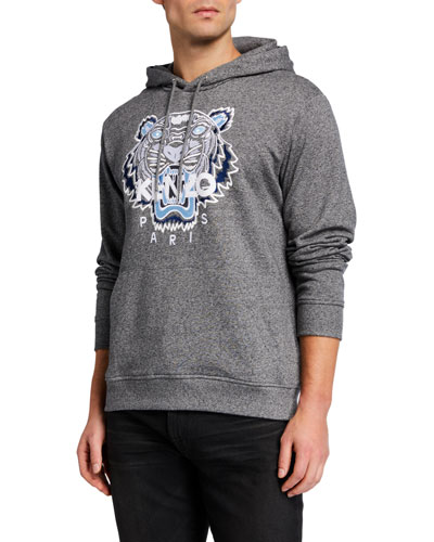 Men's Classic Tiger Graphic Pullover Hoodie
