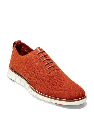 Men's ZeroGrand Wool Stretch-Knit Oxford Shoes