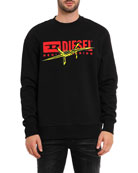 Diesel Men's S-Bay-BX5 Barbed Wire Graphic Sweatshirt