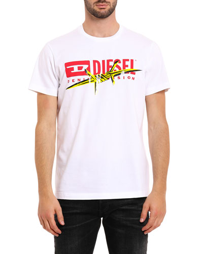 Men's T-Diego-BX2 Barbed Wire Graphic T-Shirt