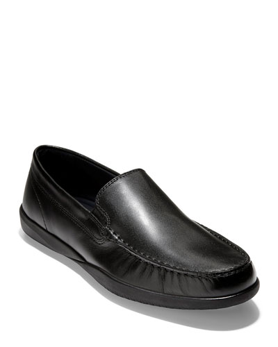 Men's Lovell Leather Moc-Toe Loafers