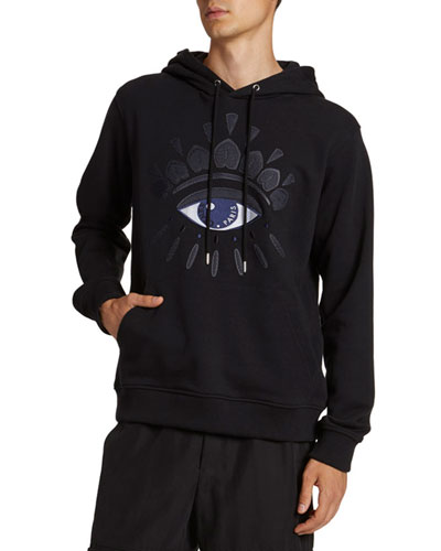 Men's Mesh Eye Graphic Pullover Hoodie