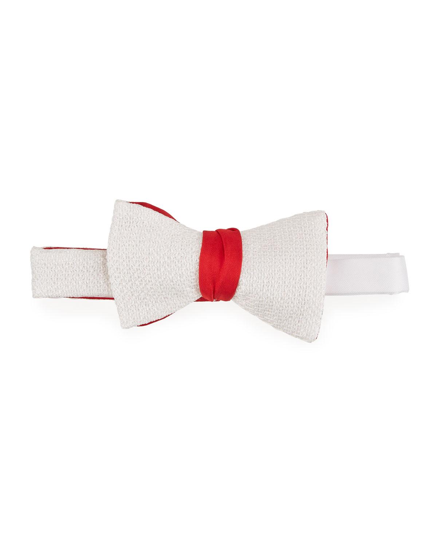 Men's Metallic Silk-Wool Bow Tie
