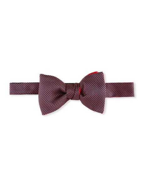 Cinabre Men's Caviar Silk Bow Tie, Rose