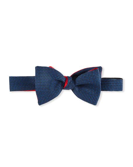 Cinabre Men's Meteorite Wool-Silk Bow Tie