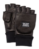 Burberry Men's 3-in-1 Lamb Leather Gloves