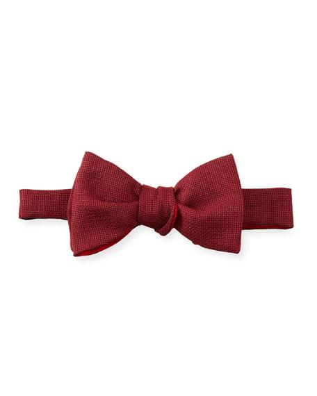 Cinabre Maille Bow Tie, Bordeaux