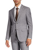 Canali Men's Plaid Wool-Silk Two-Piece Suit