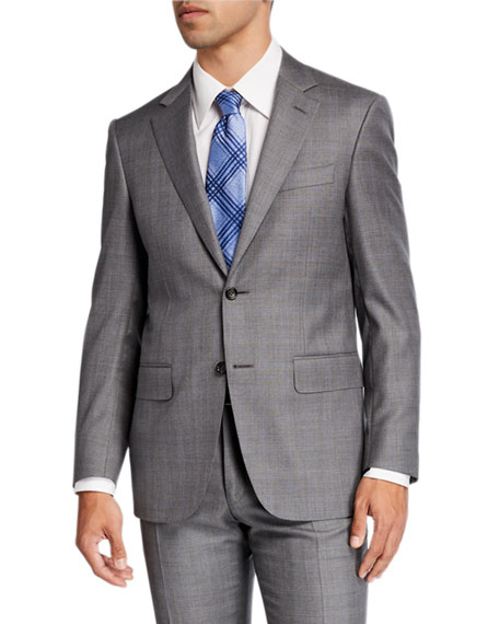 Canali Men's Windowpane Wool Two-Piece Suit