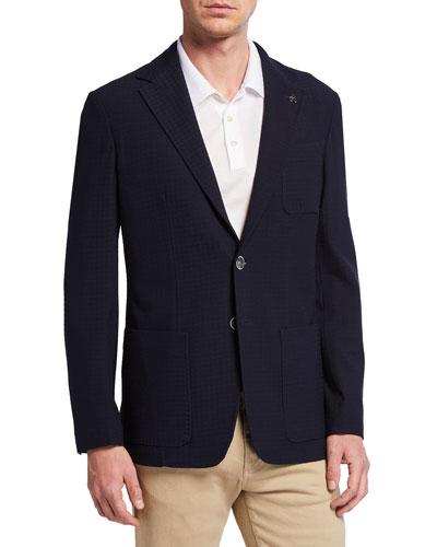 Men's Midnight Houndstooth Sport Coat