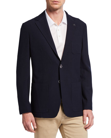 Canali Men's Midnight Houndstooth Sport Coat