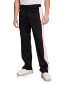 Burberry Men's Side-Stripe Track Pants