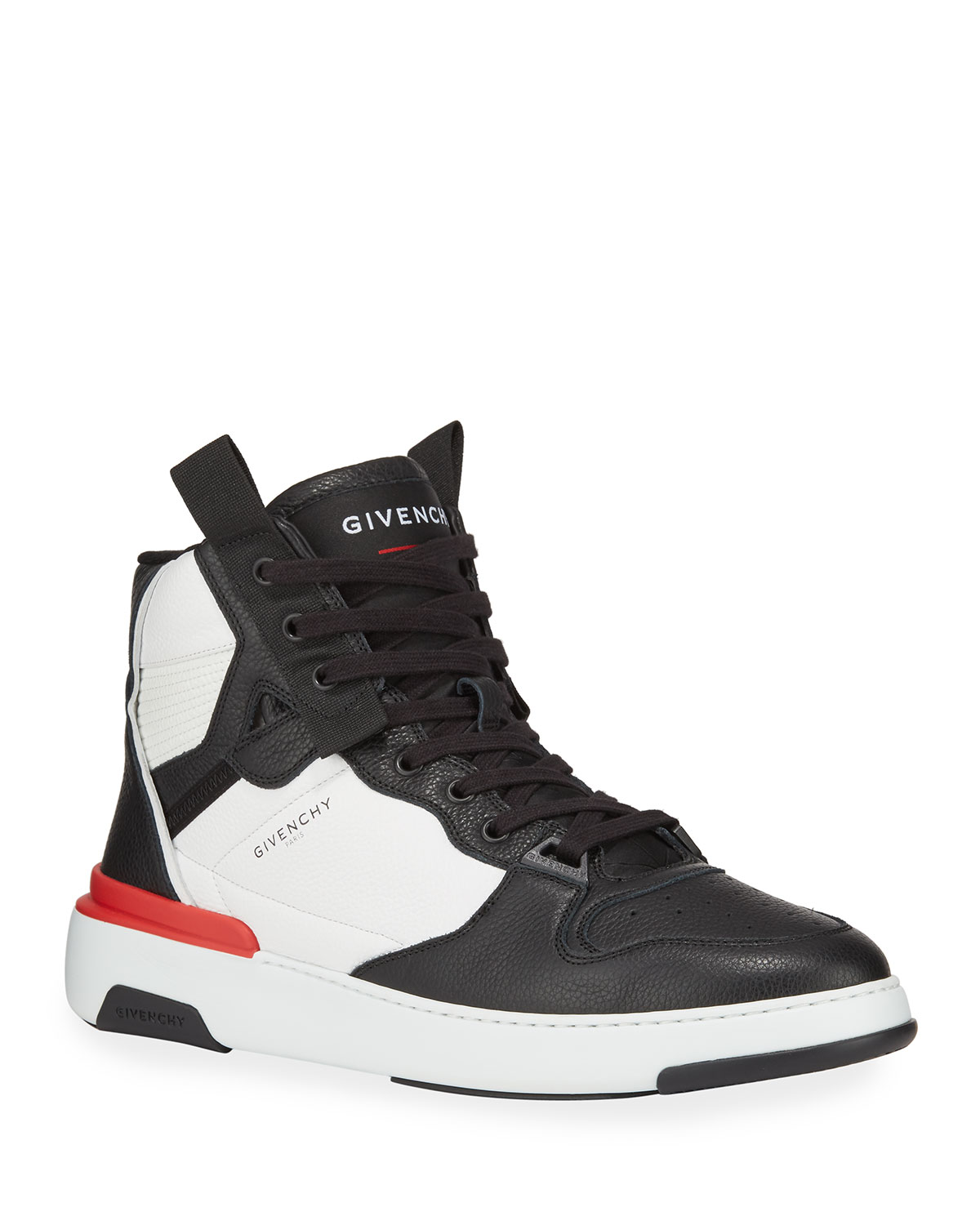 Givenchy Sneakers MEN'S TWO-TONE LEATHER BASKETBALL SNEAKERS