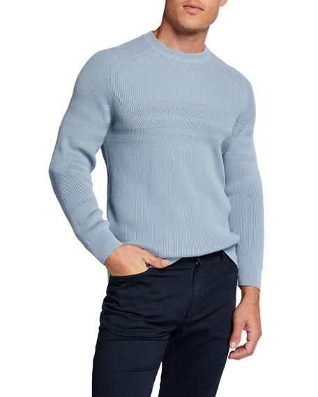 Loro Piana Men's Raglan-Sleeve Silk-Blend Sweater