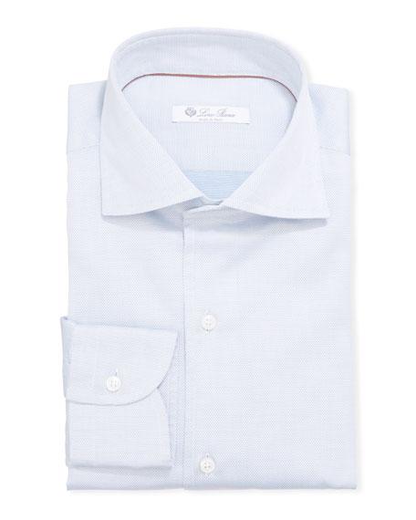 Loro Piana Men's Textured Poplin Dress Shirt