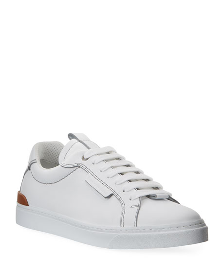 Ermenegildo Zegna Men's Ferrara Leather Low-Top Sneakers