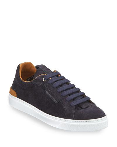 Suede Low Top Sneaker   Neiman Marcus