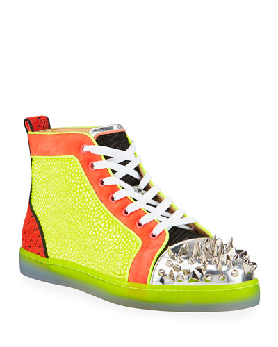 Men's No Limit Spiked Neon High-Top Sneakers