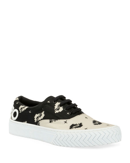 Kenzo Men's K-Skate Two-Tone Patterned Sneakers