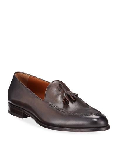 Men's Leather Tassel Loafers