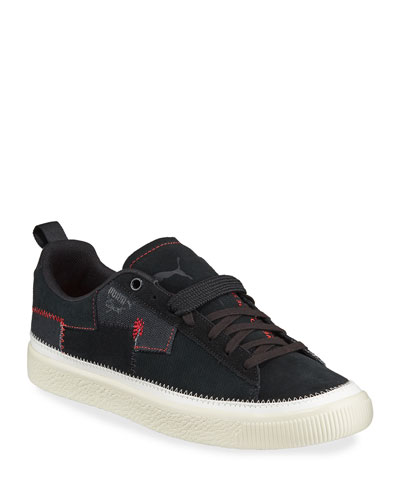 Men's Clyde REFORM Mixed-Media Patched Sneakers