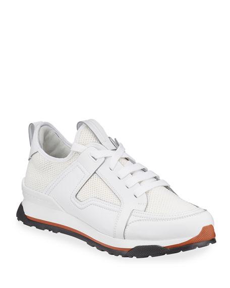 Ermenegildo Zegna Men's Siracusa Mesh & Leather Trainer Sneakers