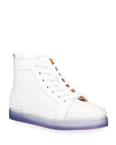Men's Lou Spikes 2 High-Top Clear-Sole Sneakers