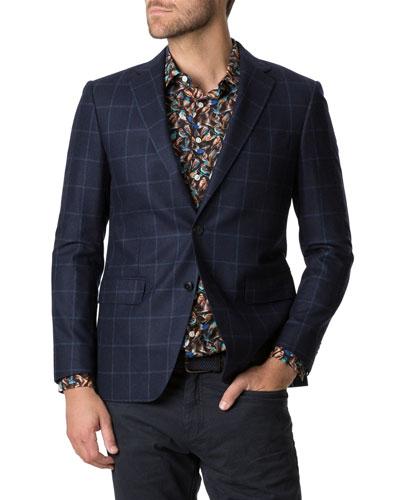 Men's Rewcastle Check Two-Button Jacket