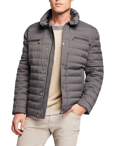 Men's Lightweight Water-Resistant Down Jacket