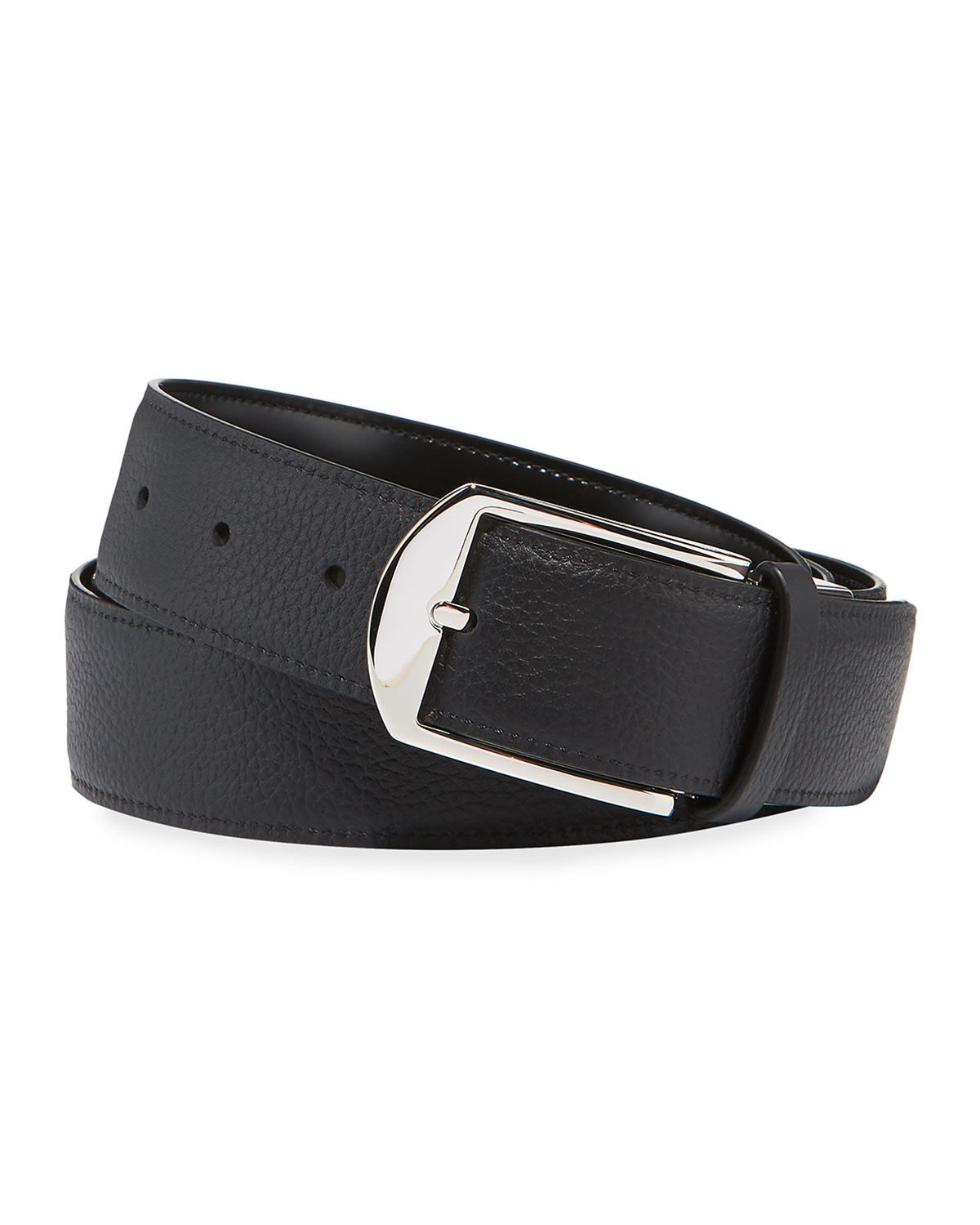 Men's Reversible Grained/Smooth Leather Belt