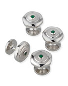 dunhill Soft Hex Emerald Dress Studs