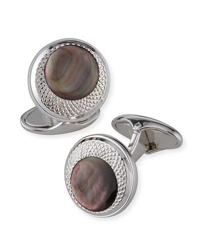 X Centric Mother-of-Pearl Cufflinks