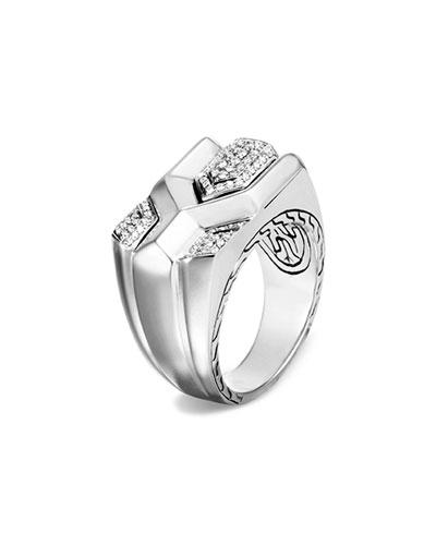 Men's Asli Classic Chain Link Diamond Pave Ring