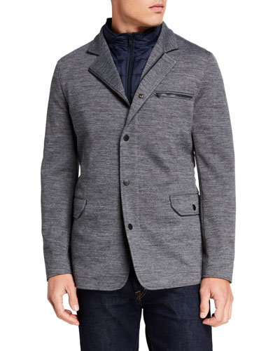 Men's Wyndward Heathered-Knit Jacket