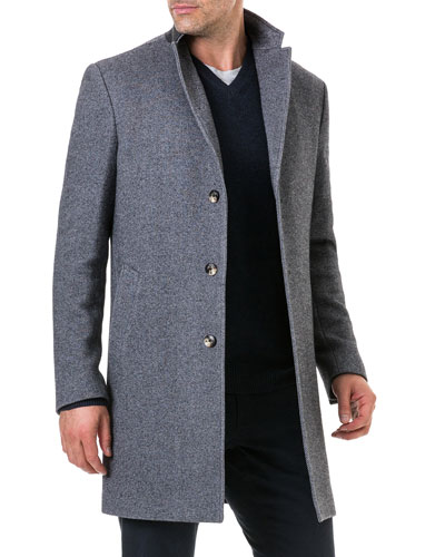 Men's Calton Hill Wool-Cotton Coat