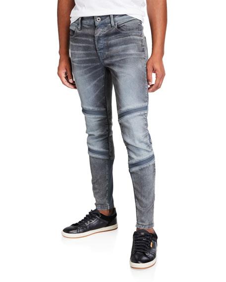 G-Star Men's Motac 3D Slim Rib-Panel Moto Jeans