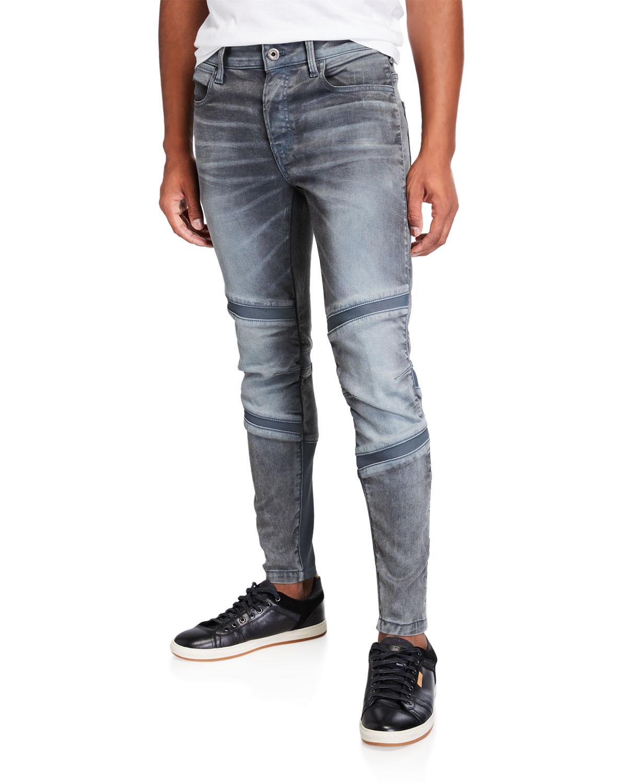Men's Motac 3D Slim Rib-Panel Moto Jeans