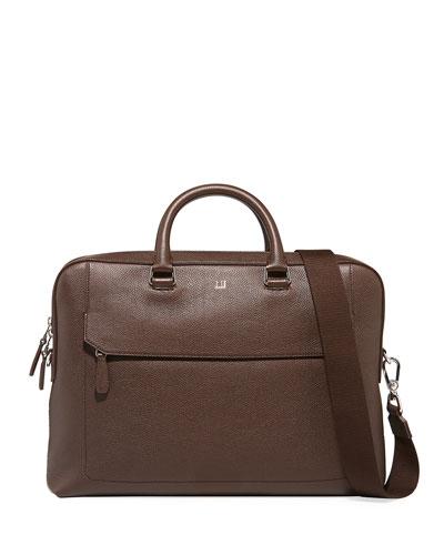 Men's Belgrave Single-Document Leather Briefcase
