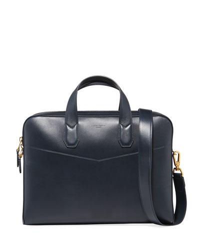 Men's Duke Single-Document Leather Briefcase