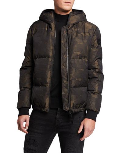Men's Camo-Print Down Jacket