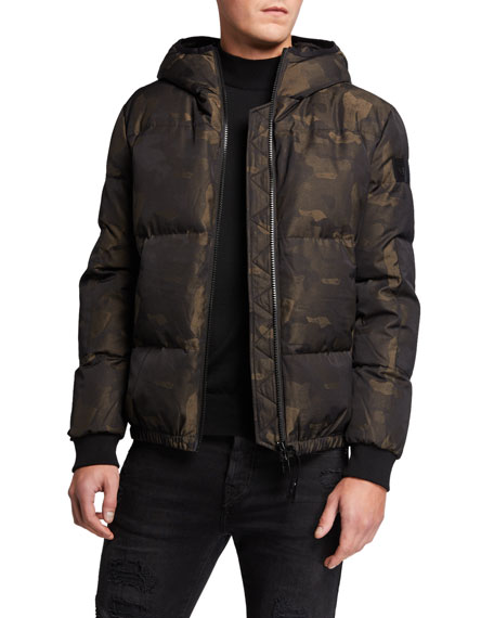 True Religion Men's Camo-Print Down Jacket